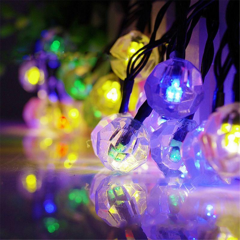 태양 빛 30LED 빛 문자열 다이아몬드 야외 정원 방수 장식 크리스마스 날 LED 플래시 램프