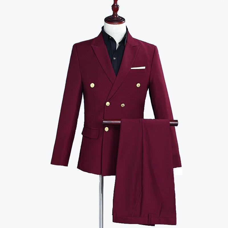 Männer Anzüge Neue Mode Neuesten Mantel-Hose Designs Drei Stück Anzug Formale Slim Fit Anzüge Rot Hochzeitsanzug für Männer Blazer Kostüm Homme