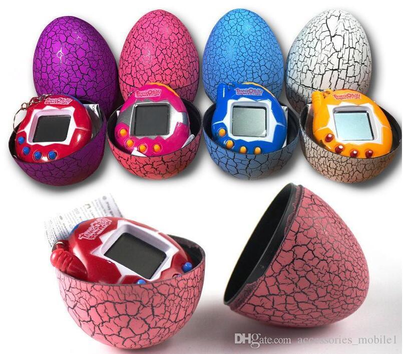 لعبة مع سلسلة المفاتيح EDC متعدد الألوان الكرتون مفاجأة البيض الإلكترونية الحيوانات الأليفة مصغرة لعبة آلة باليد ، لعبة الهدايا WJ 003