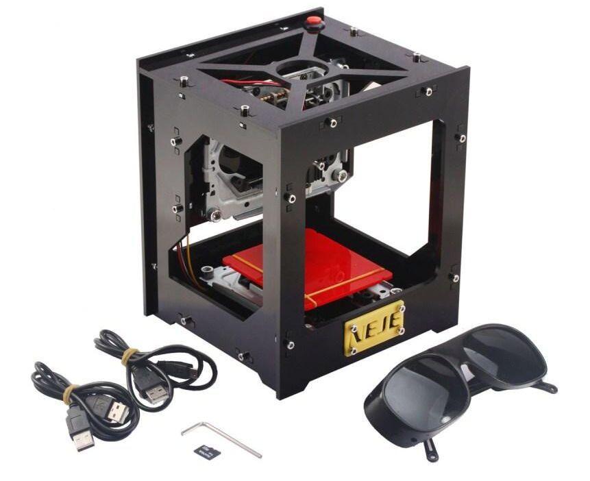 1000MW Higher Energy Laser Engraving Machine USB Engraver NEJE DK-8-KZ High Speed Micro Mirror Type Stamp Maker DIY Printer