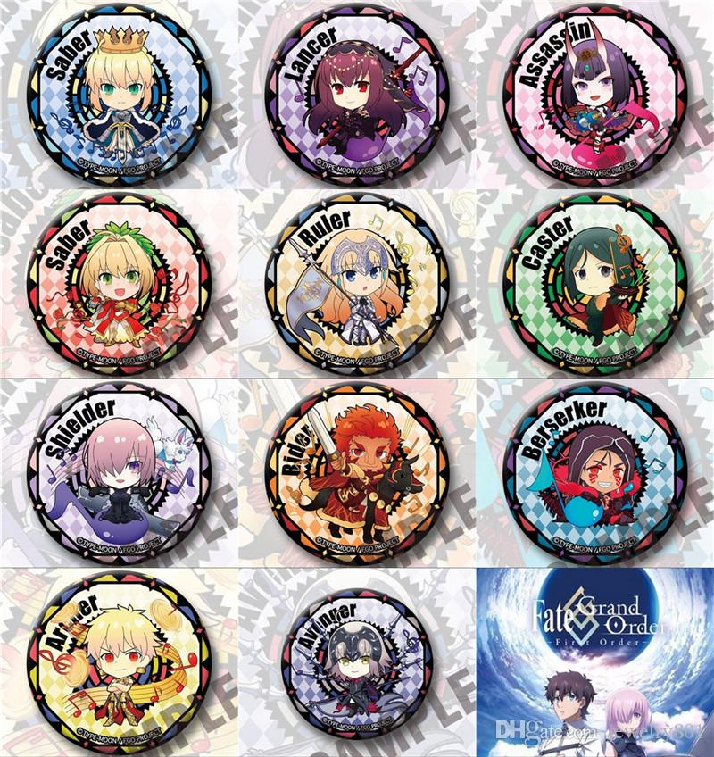 2020 Anime Cartoon Fate Grand Order Fgo Gilgamesh Nero Shuten Douji Jeanne Darc Badge Brooch Halloween Cosplay Badge Christmas Gift From Jewelry801 2 66 Dhgate Com