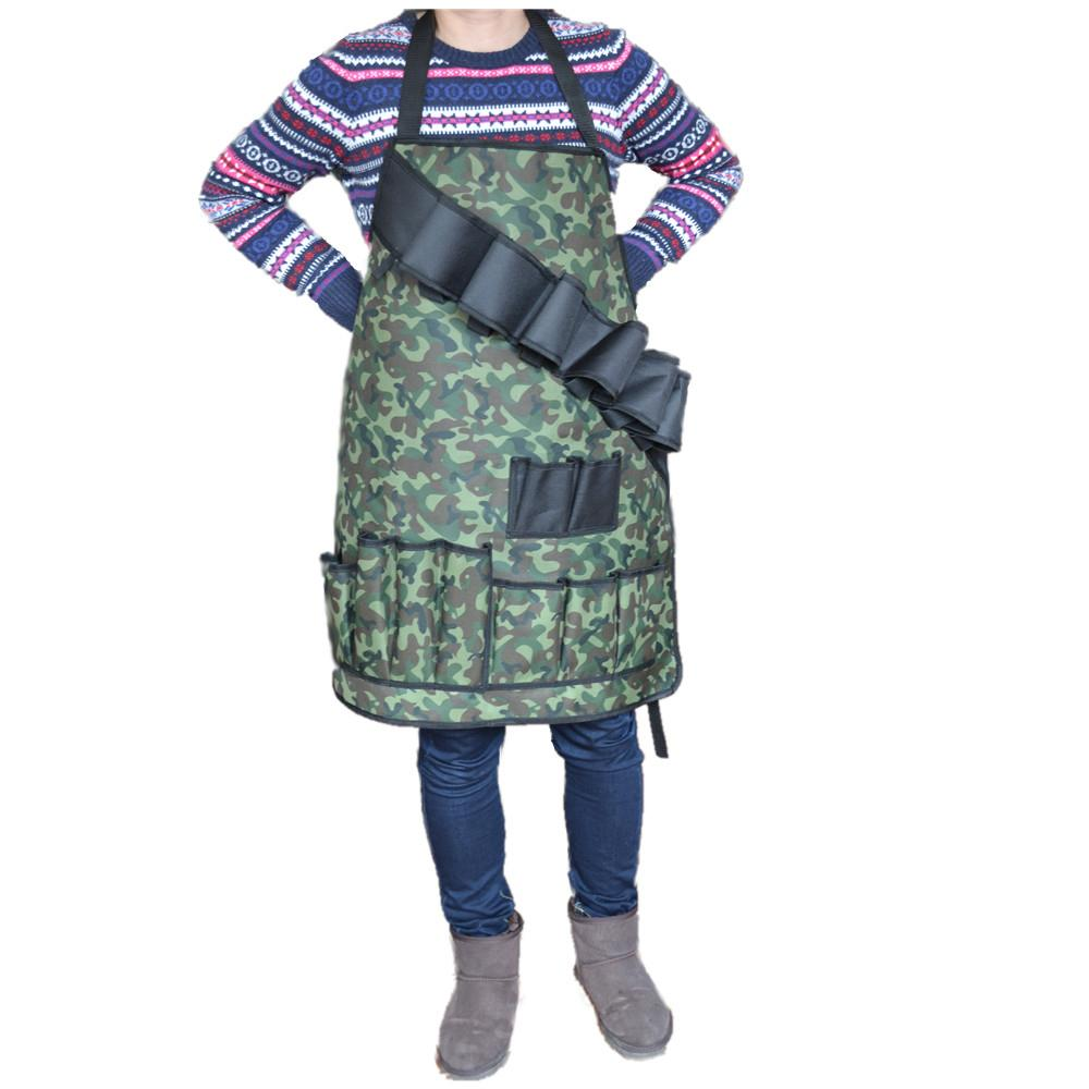 Çok Cepler Kamuflaj Önlükleri Custumized Oxford Aşınmaya dayanıklı Polyester Önlükleri Açık Içecek / Kamp BARBEKÜ Aracı