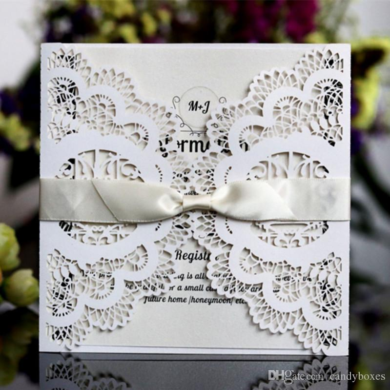 Glittery Invitation Cards Marriage Engagement With Butterfly Lace Hollow Laser Love Birds Wedding Cards Free Ship Personalised Birthday Card