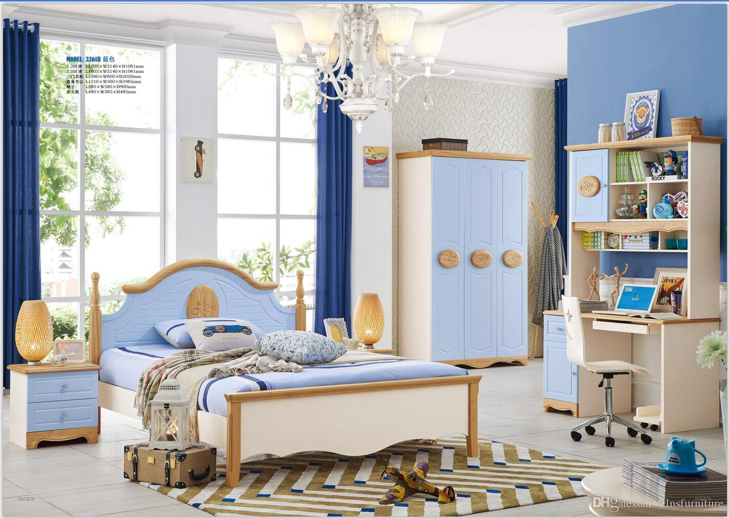 Image of: 2020 Modern Bedroom Furniture Set Solid Wood Healthy Children Bedroom Furniture Set Bed Wardrobe Desk Bedside Table Chair From Wlnsfurniture 1 579 9 Dhgate Com