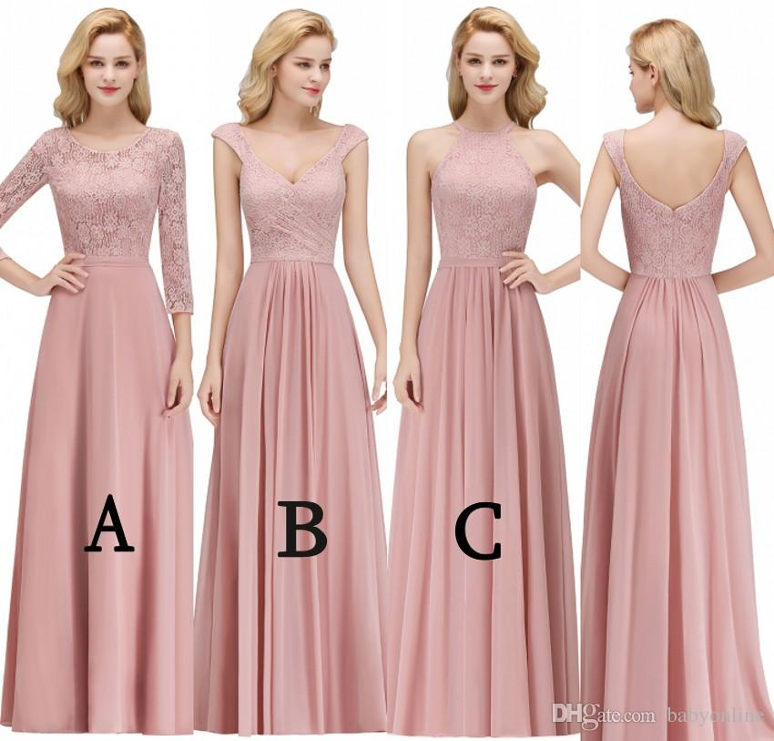 2019 Mixed Styles Cheap Bridesmaids Dresses