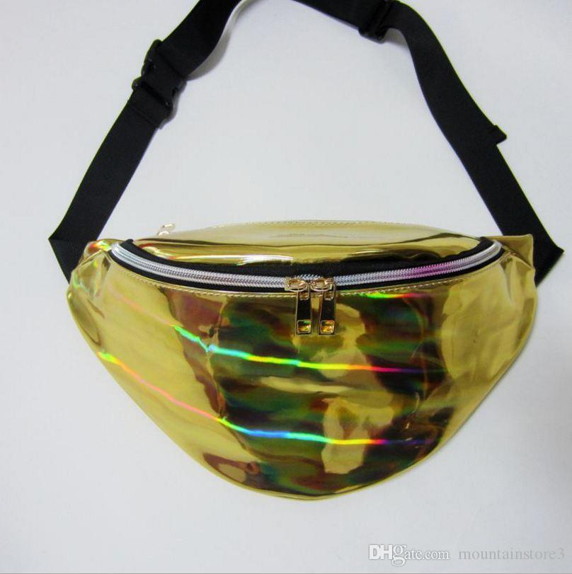 New Holographic Fanny Pack Laser Waist Packs Heuptas Hip Bag Women's Waistband Banana Bags Waist bag Unisex bolso cintura -v