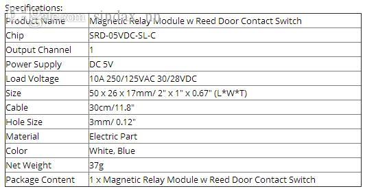 2019 Sindax Electronic Magnetic Sensor Relay Module W White Reed Door  Contact Switch SRD 05VDC SL C From Sindax_nn, &Price
