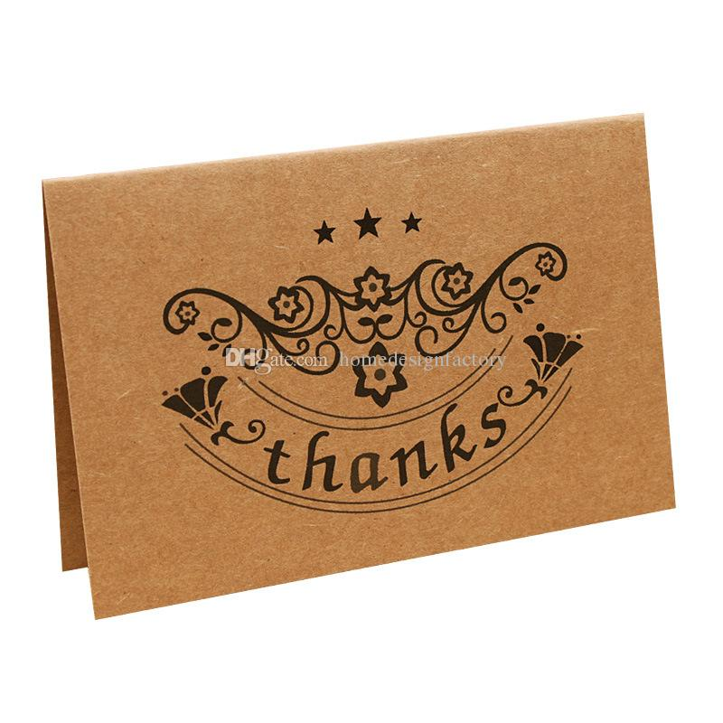 Acheter Papier Kraft Vintage Merci Cartes De Vœux Pour Anniversaire Noël Fête Des Pères Cadeaux De Fête Des Mères De 049 Du Homedesignfactory