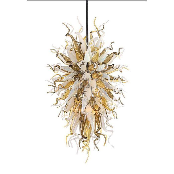 Decoración de la cocina Lámpara de araña inspirada Nueva llegada Cristal de Murano Cristal de color ámbar Lámpara de techo moderna Lámpara colgante