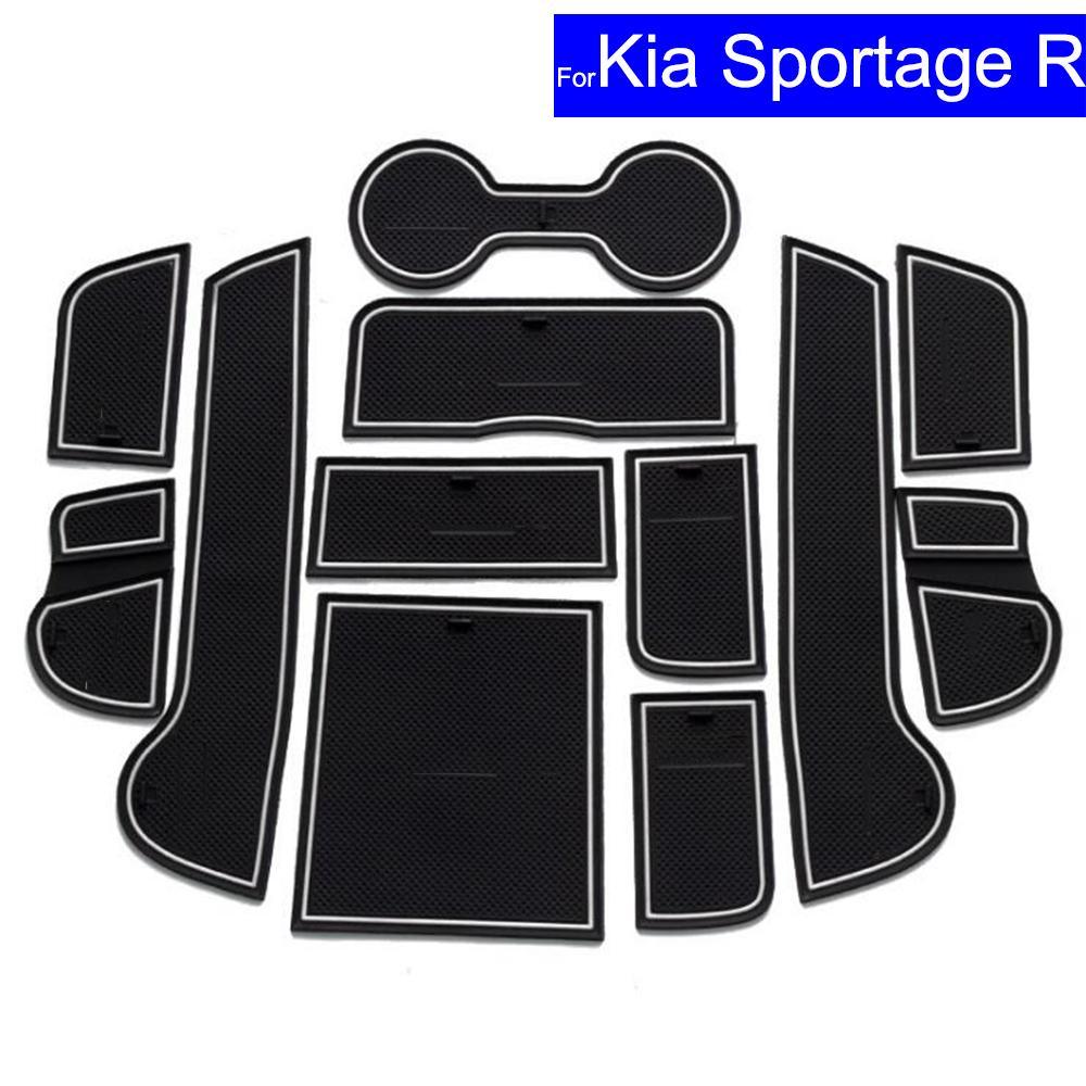 2x hot Black Car Auto Water Cup Slot Non-Slip Carbon Fiber Look Mat Accessories