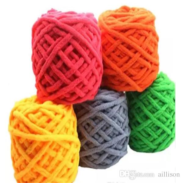 Aillison New Hot Sale Colorful Dye Scarf Hand-knitted Hand Knitting Soft Cotton Yarn Thick Wool Yarn Wool