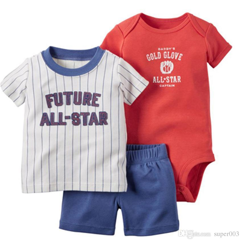 2018 roupa da menina do menino do bebê Estilo ajustado do roupa do verão Outono recém-nascido, roupa do menino do bebê, roupa dos miúdos, romper do bebê, grupo curto da luva