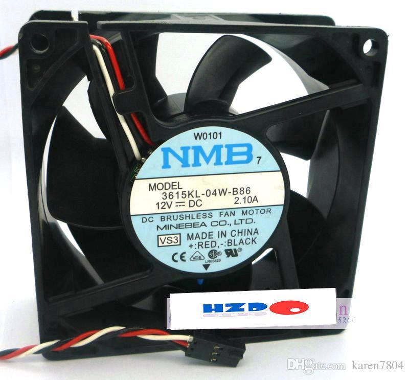 9CM 12V 2.1A 3615KL-04W-B86 Ventilador NMB para Dell GX270 sistema de chasis ventilador 11938MB-B3N-EA