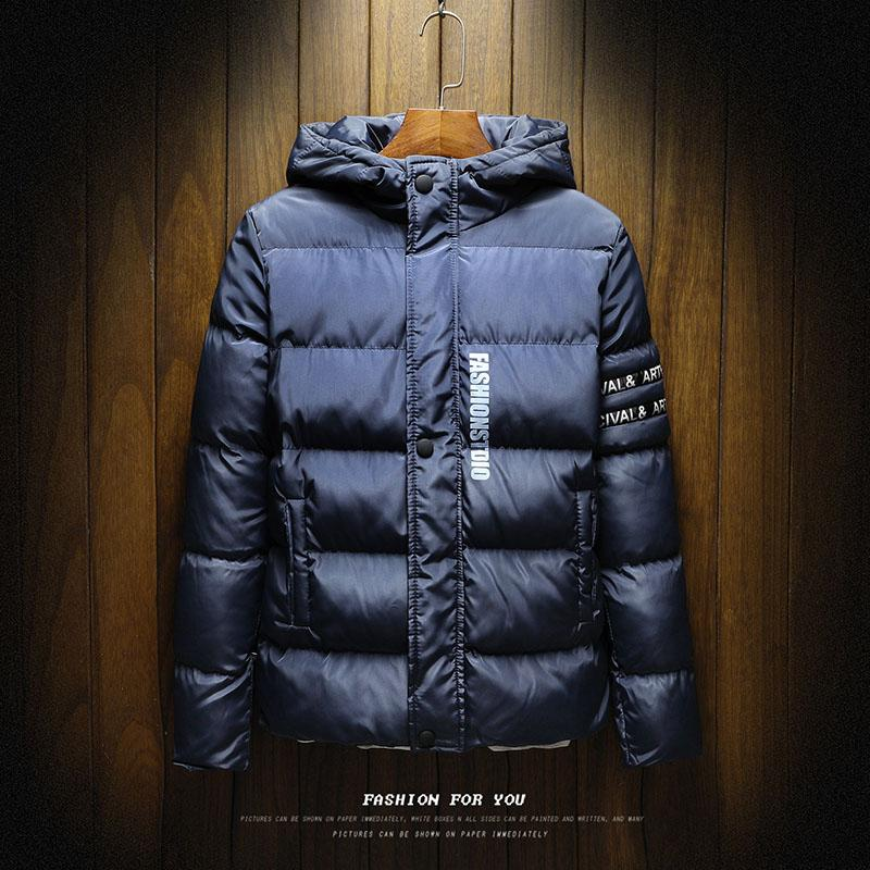 JCCHENFS Casacos de Inverno Homens Jaqueta Casacos 2018 Novo Slim Fit Com Capuz de Algodão Marca de Moda Parka Masculino Casual Quente Slin fit Outerwear