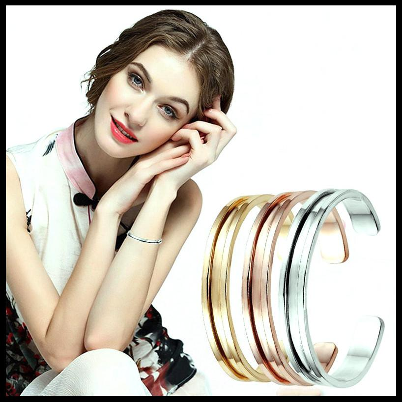 Fashion Hair Tie Bracelet Jewelry New Design Silver Color Women Cuff Bangle Rose Gold Plated Gift Cuff Bracelet for Gift