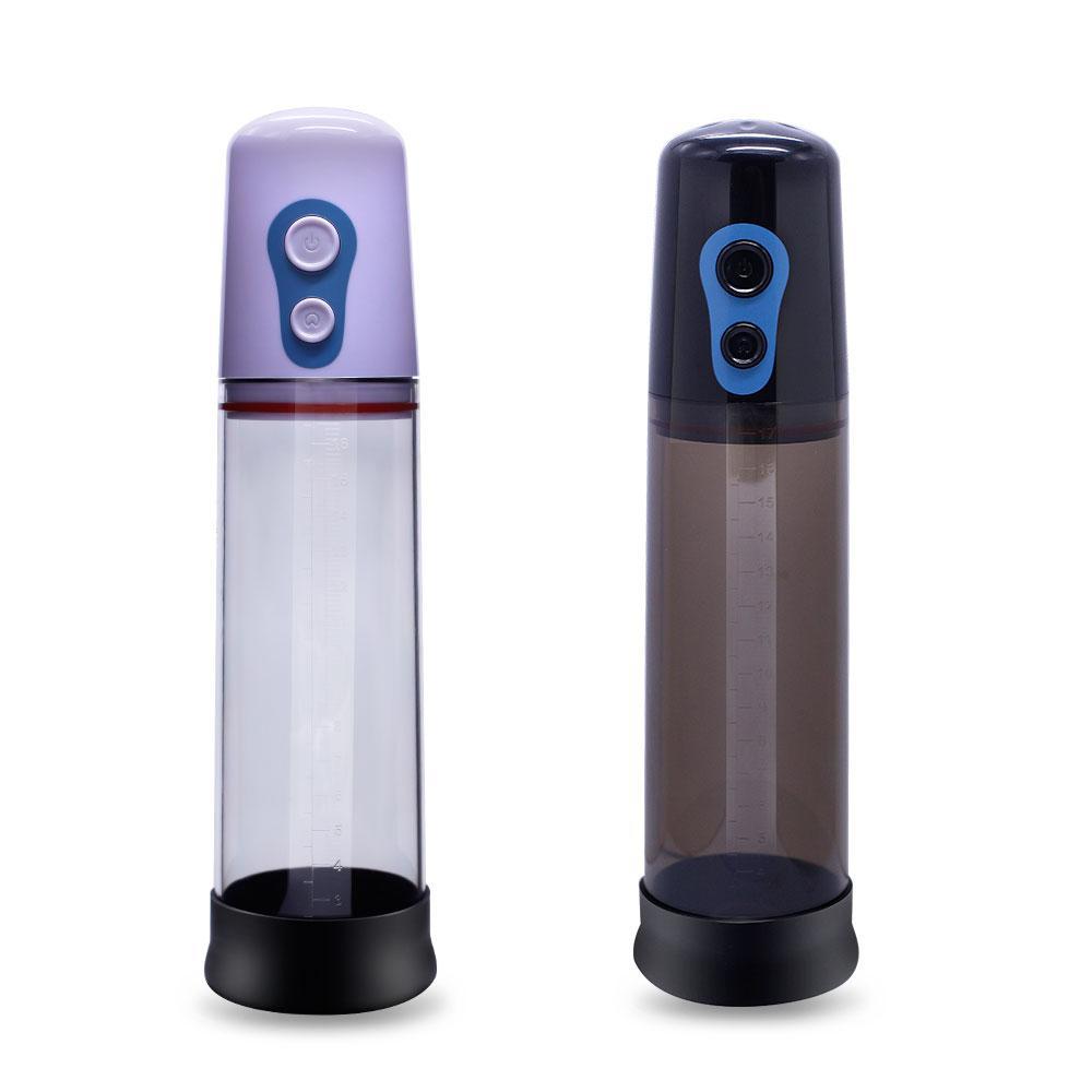 Khalesex Electric Auto Pompa dell'ingrandimento del pene Maschio Vibratore Cock Extend Enlarger Erezione Pene Formazione Giocattoli Adulti Del Sesso per gli Uomini