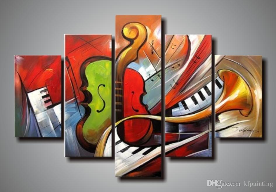 100% handpainted huge modern abstract music paintings acrylic paint for canvas art deco paintings sale living room decoration