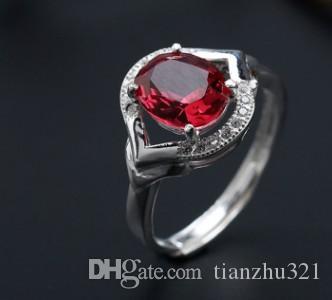 ) chaming Кристалл инкрустация серебряный леди кольцо (22) открытый размер