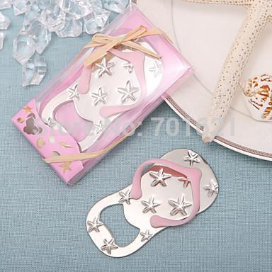 250PCS/LOT wedding favor bridal shower guest gift Flip flop wine bottle opener with starfish