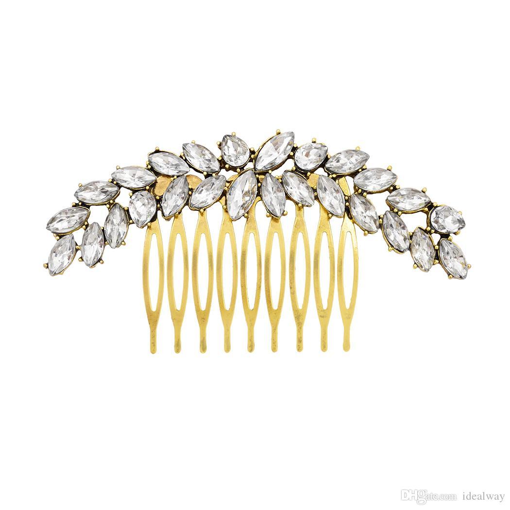 جديد عصري حجر الراين دبوس الشعر الأنيق حلية للنساء مجوهرات الأزياء والمجوهرات