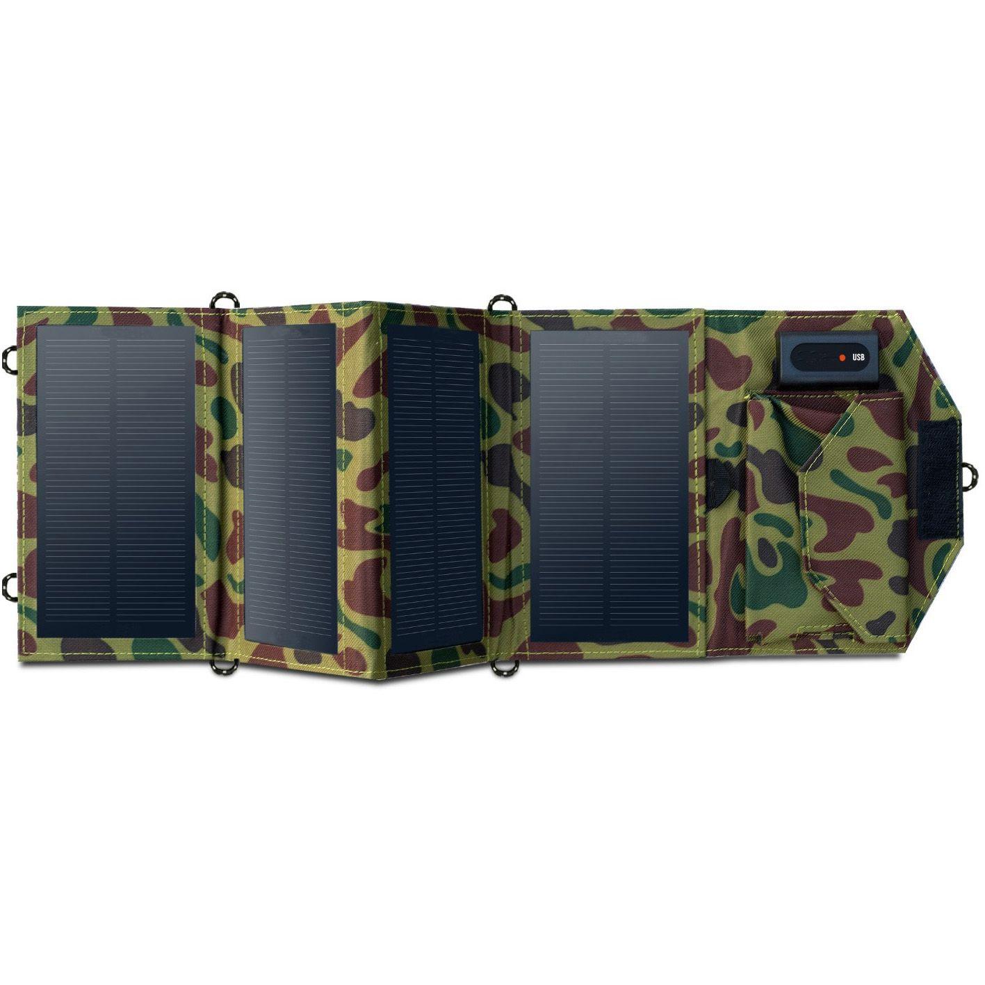 Pannello solare pieghevole a energia libera da 7 W con uscita USB DC5V come caricabatterie mobile ad energia solare