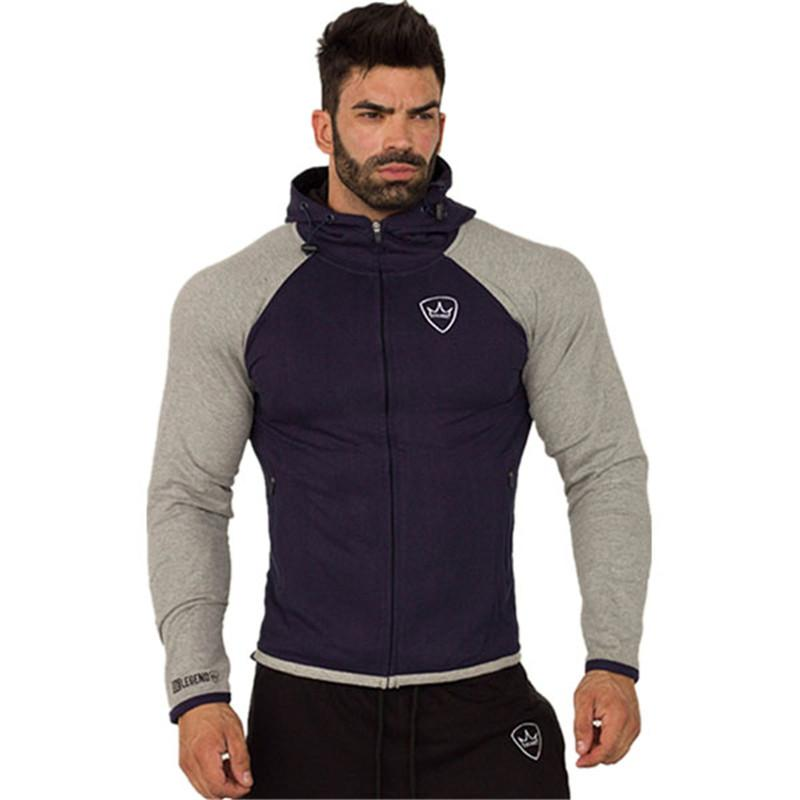 Automne 2018 Nouveau Mode Hommes Hoodies Fitness Hommes Sweat À Capuche Casual Zipper À Capuche Vestes Jogging Running Sports