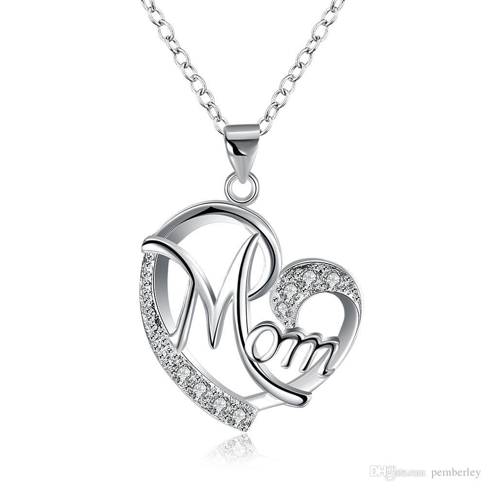 N849 Mon Bestnote Diamant Anhänger Halskette Kubikzircon sterling silber Kleine Meerjungfrau Anhänger halskette Für Hochzeit Party Frauen Schmuck