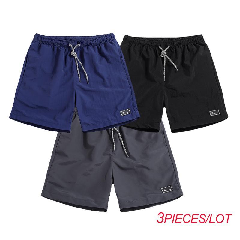 Varsanol nuevo para hombre Pantalones cortos Pantalones cortos de hombre Verano Poliéster Cintura elástica mediados de hombres Ventas calientes