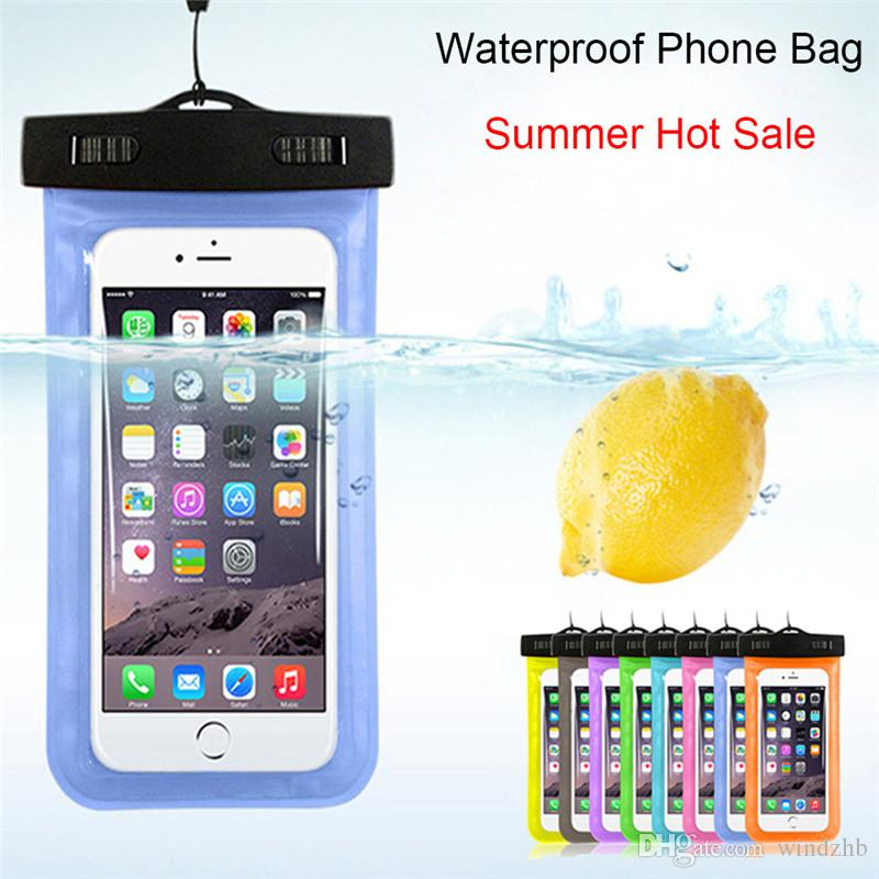 Camouflage Waterproof Case Universal Water Proof Bag Armband Pouch Cover For All iPhone XR XS X 8 7 6S 6 Plus Samsung S9 S8 Cell Phone Bag