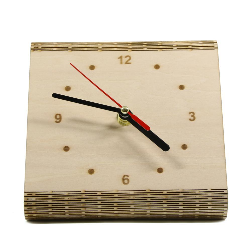 1Piece The Flex Time Clock DIY Simple Desk Clock Modern Contemporary Bedside Table Minimalist Wood
