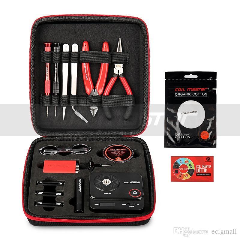 Authentic Bobina Mestre DIY Kit atualização 3.0 versão da ferramenta enrolando fio medidor de Ohm bobina gabarito pinças cerâmicas kit para RBA RDA bobina mestre kit DIY
