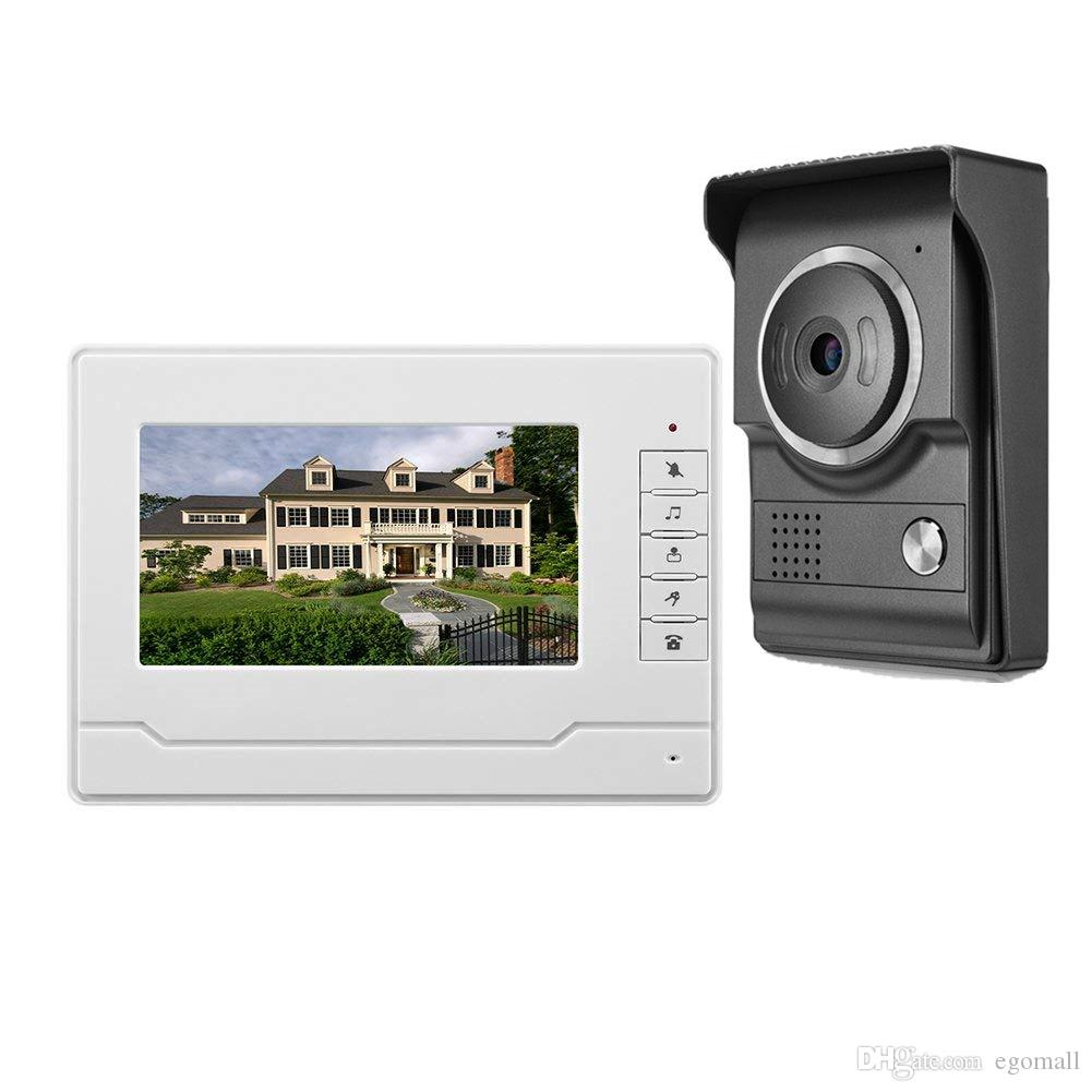Video Doorphone 7 inch colour TFT-LCD Wired Video Door Phone Doorbell Intercom System Camera IR Night for Home Office Security System
