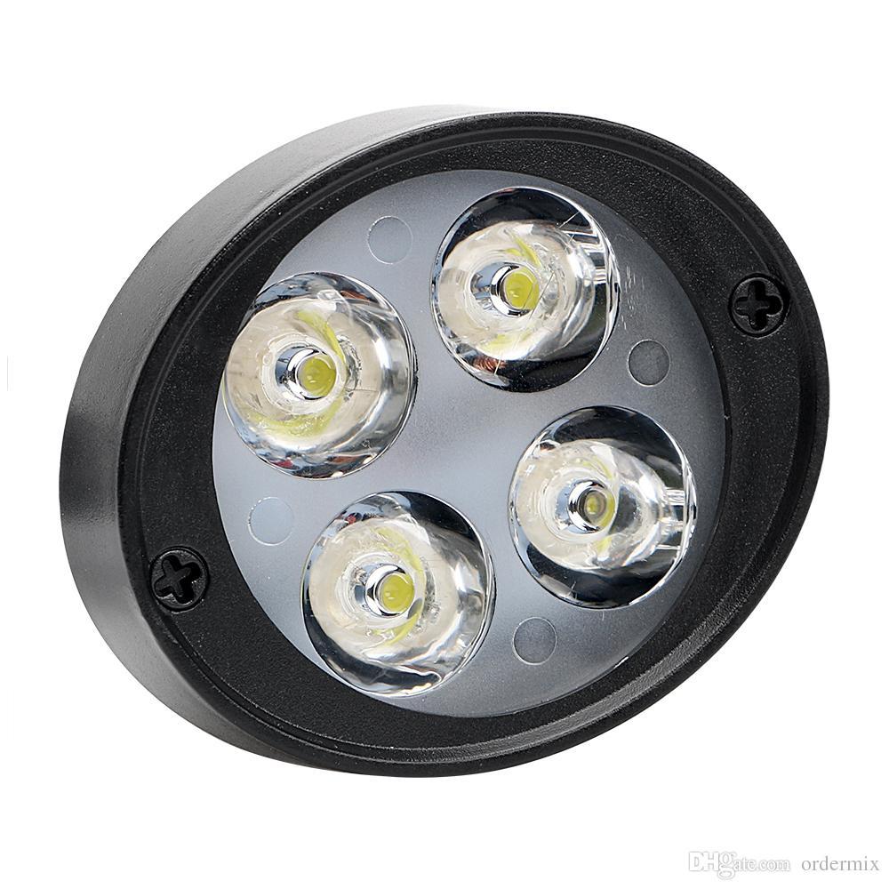2 Pçs / set Farol Da Motocicleta 4 LEDs Moto Faróis Spotlight DC 12 V-85 V Acessórios Da Motocicleta Super Bright Assist Lamp