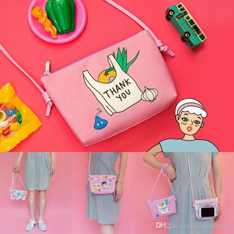 Girls Flap ship Bags Cartoon Make Up Bag Small Adjustable Single Shoulder Bag Women Purse Best quality Korea pink bags