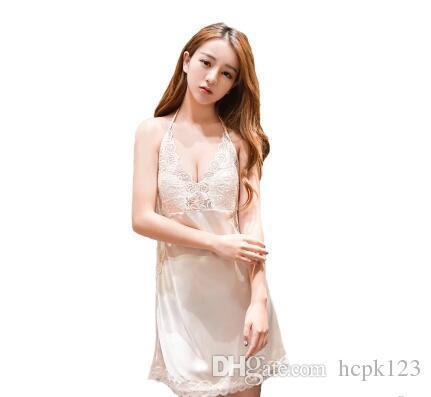 Sexy pigiama donna caldo adulto mezzanotte fascino di grandi dimensioni trasparente lingerie pizzo senza spalline posteriore