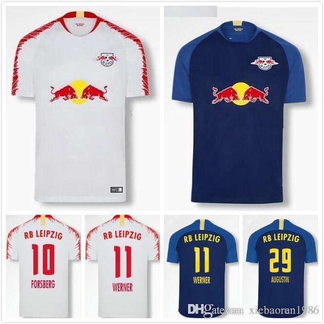 2020 Bundesliga 2018 2019 Soccer Jersey Rb Leipzig 18 19 Sabitzer Poulsen Forsberg Khedira Augustin Werner Home Away Football Shirts From Xiebaoran1986 22 28 Dhgate Com