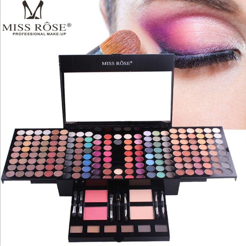 180colors Miss Rose Mat Multicolore Palette Ombre À Paupières Glitter Étanche Shimmer Fard À Paupières Éclairer Lumineux Maquillage professionnel ensembles
