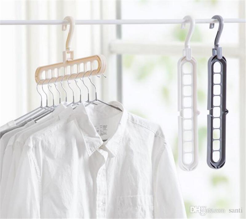 التخزين الرئيسية المنظمة الملابس المعلق تجفيف الرف البلاستيك وشاح الملابس الشماعات رفوف تخزين خزانة التخزين شماعات