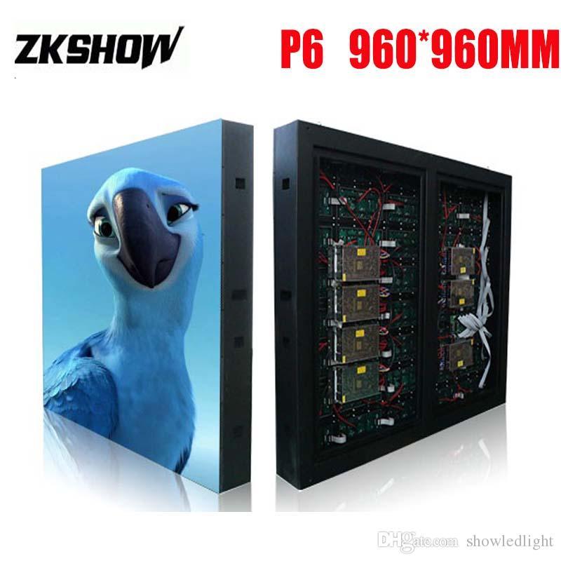 80% de réduction extérieure P6 LED Écran Panneau de SMD RGB 3en1 960 * 960mm fer Cabinet Location acier pour la publicité Signes scène avec Flightcase