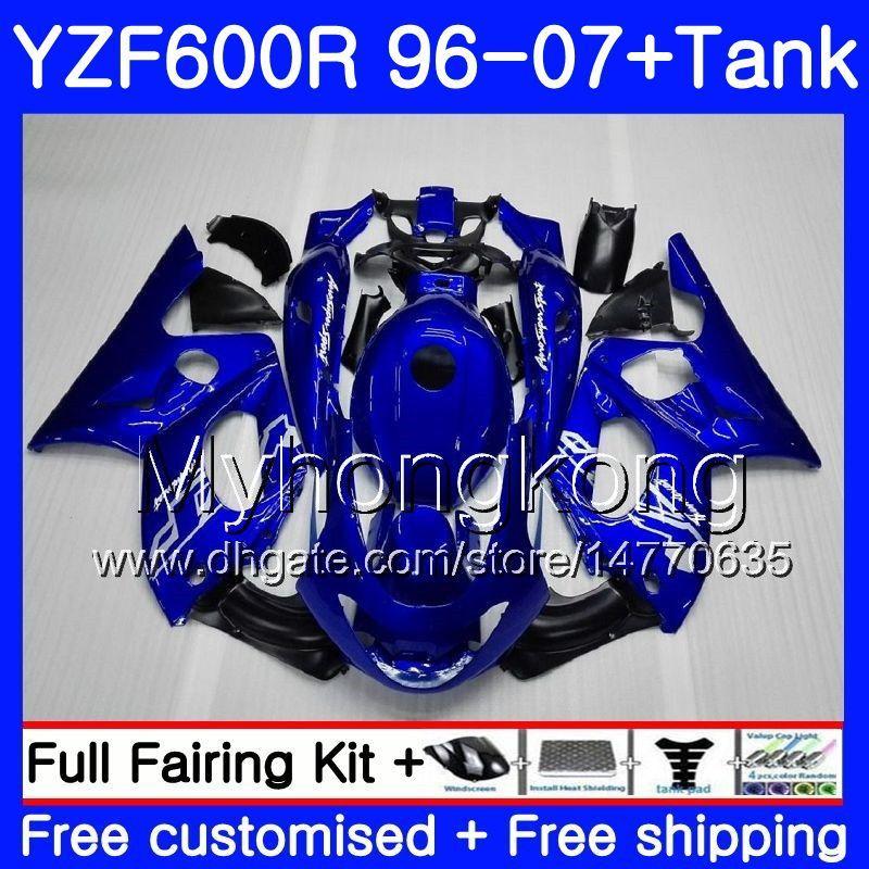 Кузов + бак для YAMAHA YZF600R Thundercat 02 03 04 05 06 07 229HM.31 YZF 600R YZF-600R 2002 2003 2004 2005 2006 2007 обтекатель фондовой синяя рамка