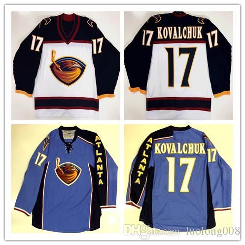 El bordado del jersey del hockey de ILYA KOVALCHUK del vintage Atlanta Thrashers # 17 cosido modifica cualquier número y nombre jerseys para requisitos particulares.