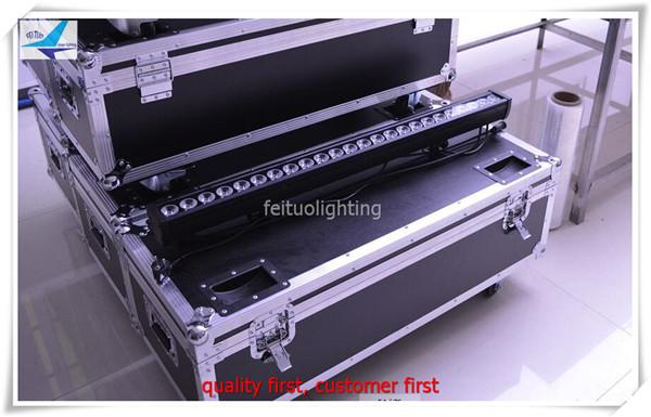 4Light+Fly case 24x10w led light bar 4in1 rgbw dmx 512 color changing light bar wholesale outdoor ip65 wall washer