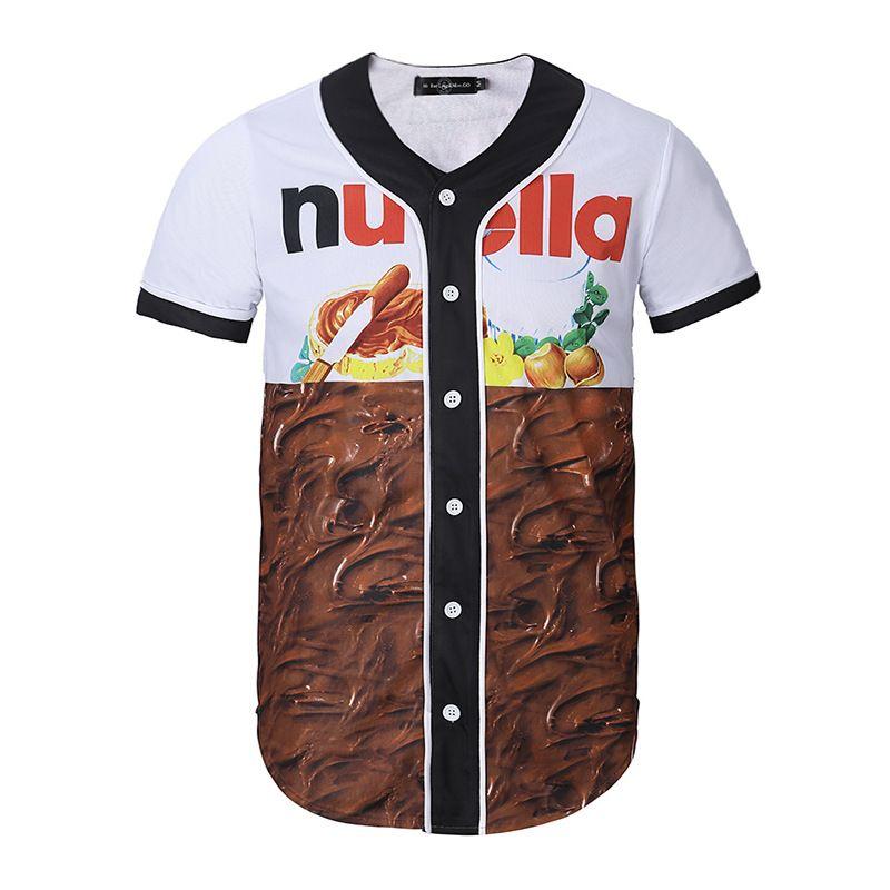 Nueva moda 3 d imprimió la camisa de las frutas en 2018.