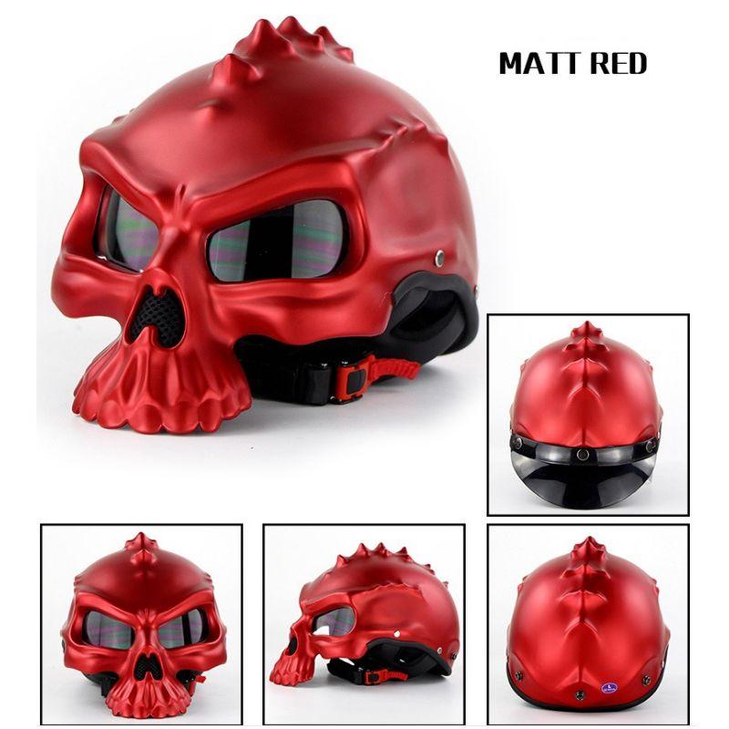 Masei CG489 Skull Casco moto Mezzi caschi Moto Capacetes Casco Retro Casque