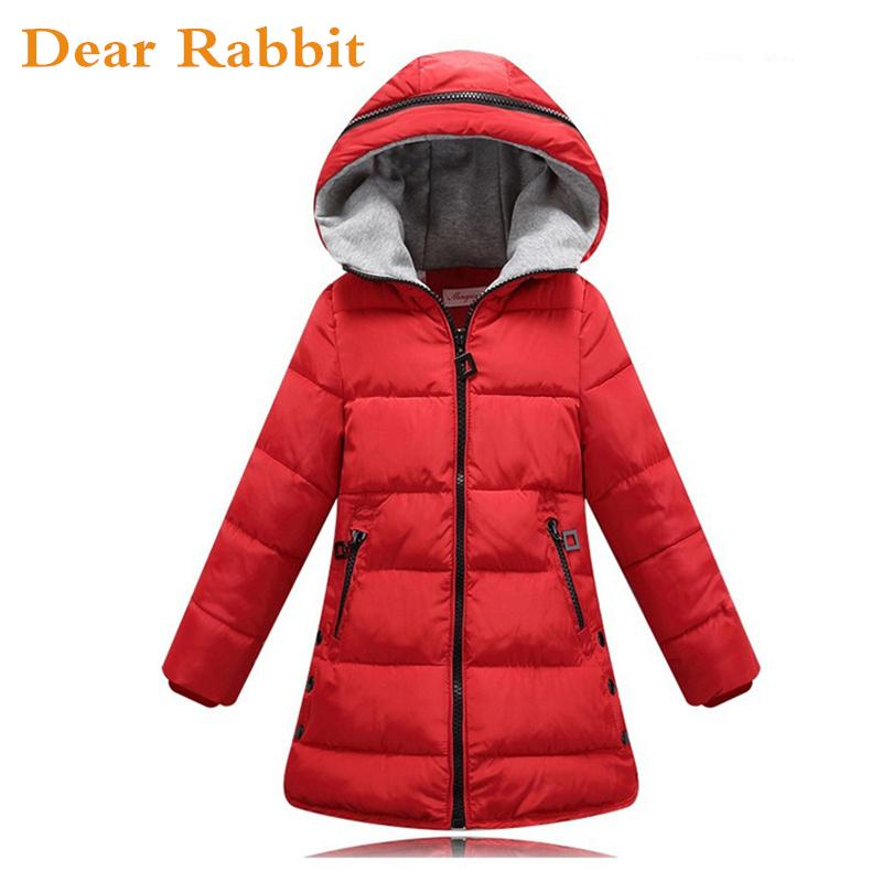 2018 spring Winter jacket for girls clothes Cotton Padded Hooded Kids Coat Children clothing girl Parkas enfant Jackets & Coats