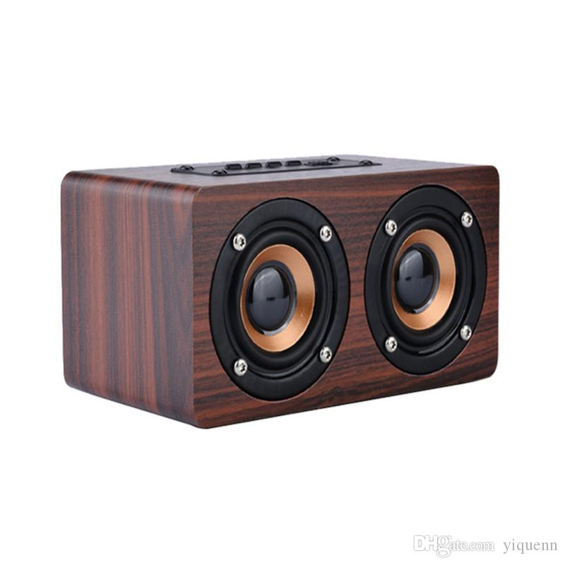 W5 outdoor wireless wooden HIFI Bluetooth speaker portable car subwoofer computer audio for iPhone mobile phone universal gift