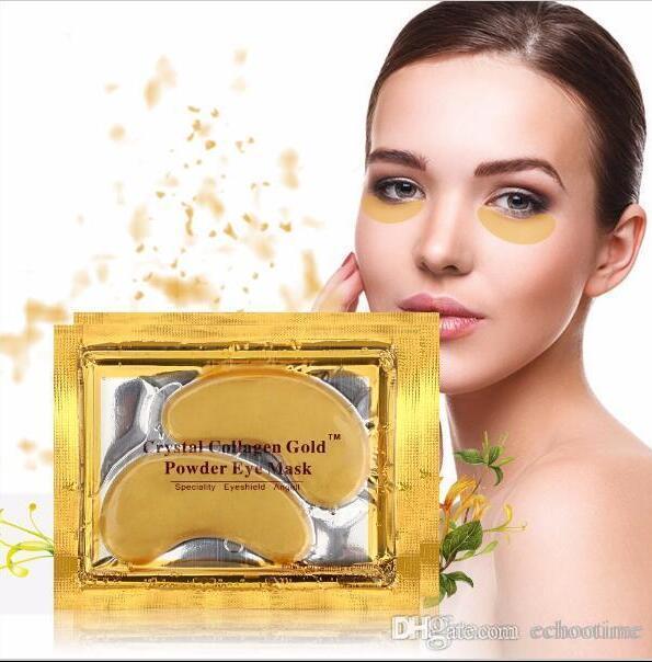 Echootime Nouveau Cristal Collagène or poudre masque pour les yeux D'or masque bâton à cernes 2000 paires DHL Livraison gratuite