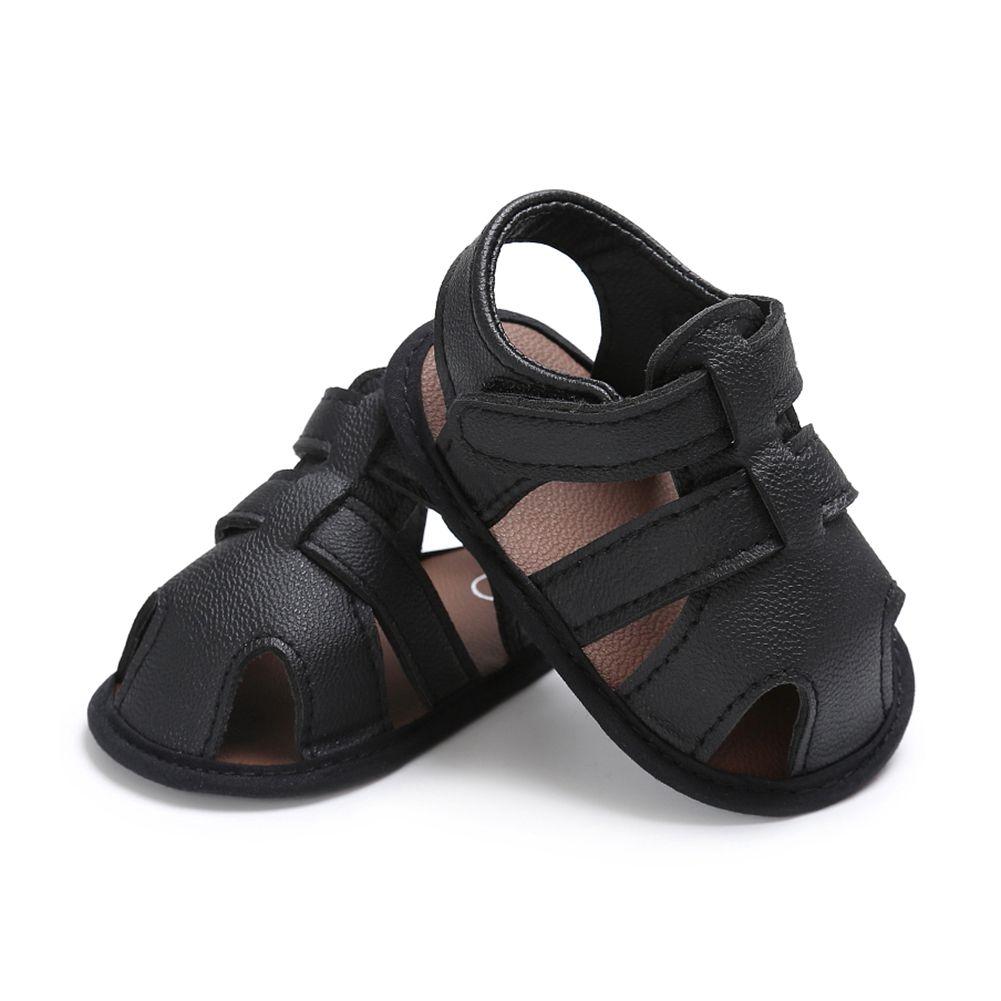 Baby Boy Schuhe Neugeborene Schuhe Schwarz Graue Männliche Babyschuhe Sommer Kleinkind Erster Wanderer PU Leder Säuglingspfall Prewalker