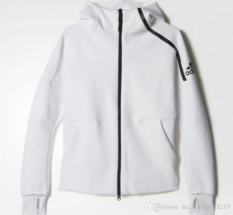 6ead8b4934160 ZNE orijinalleri logosu Kazak erkekler kadınlar Katı Renk Hoodies Rahat Yan  Fermuar severler spor Takım Elbise ...