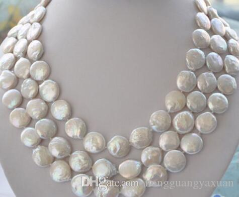 "Incantevole collana di perle d'acqua dolce naturale da 11-12mm 45 """